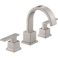 Delta Vero Widespread 2-Handle High Arc Stainless Finish Bathroom Faucet 521806