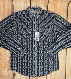 $17.99! free ship! CINCH Jeans MTW7020009 Boys SHIRT Western Snaps  NWT YOUTH BOY LARGE 12 #CINCH