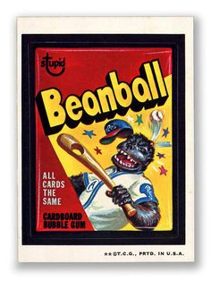 Topps Wacky Packages  3rd Series 1973 BEANBALL CARDS