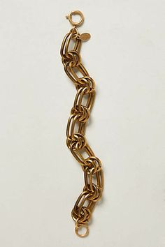 Linked Brass Bracelet