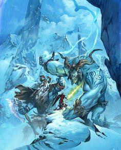 frost giants, Jesper Ejsing on ArtStation at http://www.artstation.com/artwork/frost-giants
