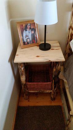 Montana Pioneer log nightstand