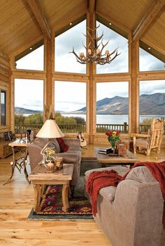 ♥ Our Dream Home ♥ with Antlers Used For Decor & our country Style & A Beautiful View Of The Lake & Mountains (oh i wish one day) - hearty-home.com