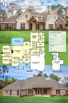 Architectural Designs House Plan 51753HZ gives you over 2,600 sq. ft. of heated living space with 4 beds plus a bonus room over the garage with a full bath. Ready when you are. Where do YOU want to build? #51753HZ #adhouseplans #architecturaldesigns #houseplan #architecture #newhome #newconstruction #newhouse #homedesign #dreamhome #dreamhouse #homeplan #architecture #architect #craftsmanhouse #craftsmanplan #craftsmanhome #craftsmanhomeplan #craftsmanhouseplan