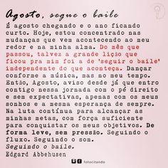 """8 curtidas, 1 comentários - S a n d r i n h a (@alexssandrabelli) no Instagram: """"- segue o baile! 👍 #novomês"""" Event Ticket, Instagram Posts, 1, Dates, Words, Frases"""