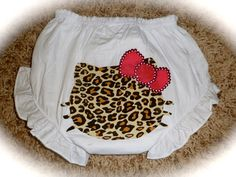Leopard Hello Kitty Diaper Cover/Bloomers by jmslack on Etsy, $15.00
