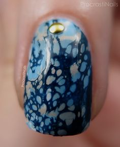 ProcrastiNails: Deep Blue Water Spotted Nails with Julep and China Glaze