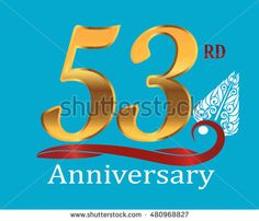 53rd golden anniversary logo with white indonesia shadow puppet ornament
