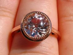 Morganite Rose Gold Milgrain Bezel Engagement Ring by JuliaBJewelry on Etsy https://www.etsy.com/listing/164438264/morganite-rose-gold-milgrain-bezel
