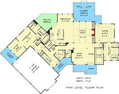 Two-Master-Suite Multi-generational Craftsman House Plan - House Plans One Story, Family House Plans, One Story Homes, Ranch House Plans, Craftsman House Plans, Country House Plans, New House Plans, Story House, Modern House Plans