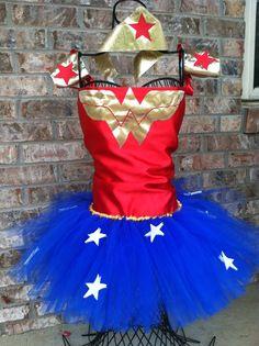 Wonder Woman Costume w/ Accessories Free by CenterStageTuTus, $65.00