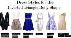 Dress styles for the Inverted Triangle Body Shape