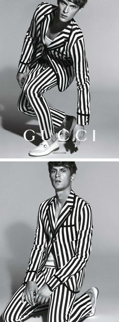 Mathias Lauridsen photographed by Mert & Marcus for Gucci Menswear Spring/Summer 2015 Campaign.