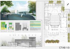 Proyecto Complejo Teatral y Audiovisual de Berazategui / Carbone Fernandez Arquitectos
