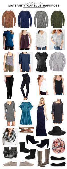 Maternity Fall & Winter Capsule Wardrobe - Pepper Design Blog