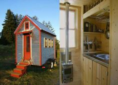 A tiny house on wheels in Albuquerque New Mexico Reclaimed