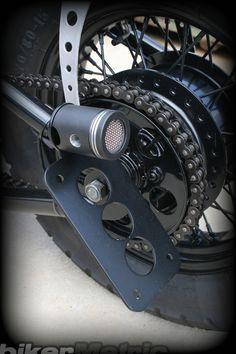 led power piston brake light & bracket