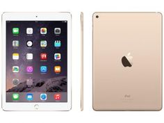 """iPad Air 2 Apple 16GB Dourado Tela 9,7"""" Retina 4G - Processador M8 Câmera 8MP + Frontal com as melhores condições você encontra no Magazine Voceflavio. Confira!"""