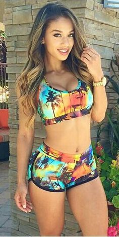 Getting ready for an island vacation? Try this tropical swimsuit from CUPSHE.com with amazing price and free shipping, no more wait, time to make a splash!