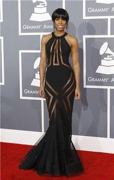 Kelly Rowland en la entrega de los Grammy 2013