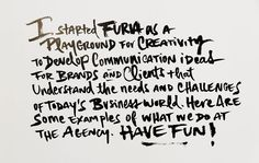 Letters for FURIA book on Behance
