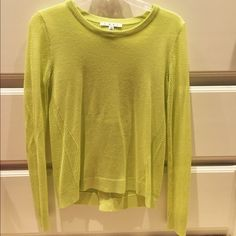 CAbi Lime Green Top This top is the most comfortable top! The split back gives it some additional interest. Perfect for the chilly days of spring! Only worn a few times. CAbi Tops Blouses