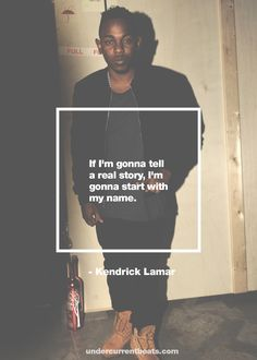 Kendrick Lamar  -- Helvetica is one helluva flexible font.