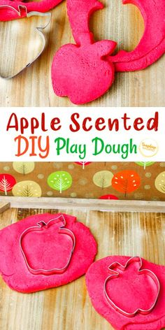 This DIY apple scented playdough from Sunshine Whispers is the perfect fall sensory activity to do with your kids! Also, it smells awesome! Fun Activities For Kids, Fun Crafts For Kids, Autumn Activities, Sensory Activities, Diy For Kids, Easy Crafts, Apple Activities, Infant Activities, Sensory Play