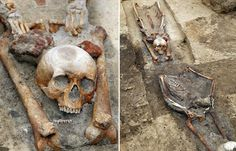 Four skeletons were recently unearthed in Poland that had been buried with their heads removed and placed between their legs, researchers to believe they're the remains of suspected vampires.