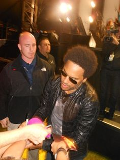 LK after the show. Sept. 2012