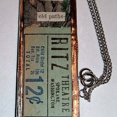 Give me old paths glass soldered pendant necklace ooak