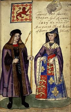 "1503 - James IV of Scotland marries Margaret Tudor, daughter of Henry VII of England. The ""Treaty of Everlasting Peace"" is signed and both countries share ten years of peace. - Margaret was the older sister of Henry VIII, she was the grandmother of Mary- Queen of Scots, and great-grandmother of James VI of Scotland who became James I of England"