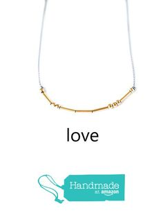 Morse Code Love Necklace Handmade 14K Gold Filled Beads Spell I Love You from Adorn512 https://www.amazon.com/dp/B01MTYPSBH/ref=hnd_sw_r_pi_dp_VzCKybC5GSK2T #handmadeatamazon