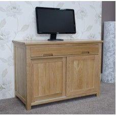 Opus Solid Oak Furniture Hideaway Computer Desk