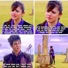 Wizards of Waverly Place: The Movie. I cried so much at this scene