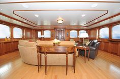 209' Royal Denship-Turmoil -Main Salon - Custom Yacht Interior Design - Destry Darr Designs