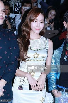 KoreanAmerican singer and actress Jessica Jung attends Fabitoria show during the Shanghai Fashion Week Spring/Summer 2017 on October 21 2016 in...
