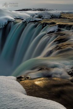 Goðafoss Golden Winter Glow by Mike Berenson - Colorado Captures on 500px