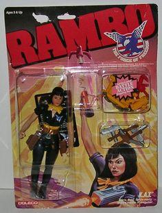 RARE Rambo K A T Figure Kat Sylvester Stallone Vintage Coleco 1986   eBay