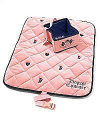 Juicy Couture dog travel set