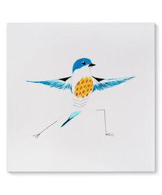 Missouri Bluebird in Warrior 2 Canvas Art #zulily #zulilyfinds