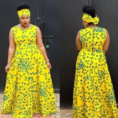 (via Creative Ankara Gown Style - DeZango Fashion Zone) African Dresses For Women, African Attire, African Wear, African Fashion Dresses, African Women, Ghanaian Fashion, African Style, African Clothes, African Print Dress Designs