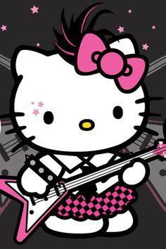 Punk Kitten | Fond d'écran de Hello Kitty Punk pour iPhone