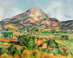 Paul Cézanne - Mont Sainte-Victoire, 1895 at Barnes Foundation Philadelphia PA