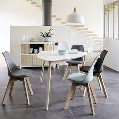 Scandinavische witte eettafel, 4/5 personen, L150 | Maisons du Monde
