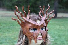Leather bark mask by TBTOBEDESIGNED1 on Etsy