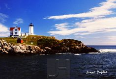Nubble Lighthouse, Wells, ME. Get professionally printed copies of any of my photos, and merchandise featuring my photos, at www.JHughesPhoto.smugmug.com