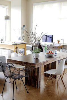 House Tour: A Bright Vintage Modern Loft | Apartment Therapy