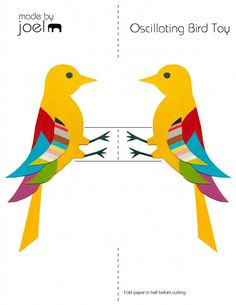 What a fun way to show principles of Physics! with a link to the scientific explanation. Made by Joel » Oscillating Bird Science Toy For Kids