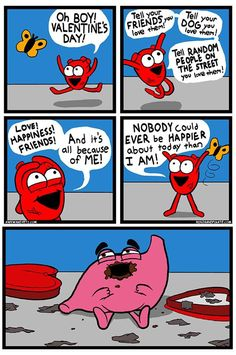 Happy v day. Stomach wins finally? The Awkward Yeti comics